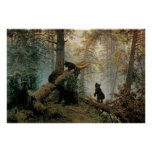 Shishkin, Ivan - mañana en un bosque del pino Posters