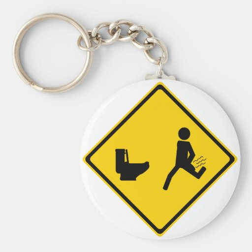 Shit Yourself Road Sign Basic Round Button Keychain