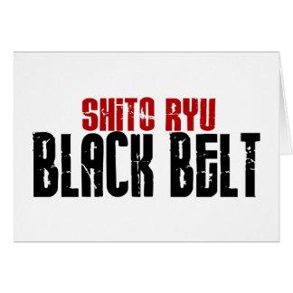 Shito Ryu Black Belt Karate Greeting Card