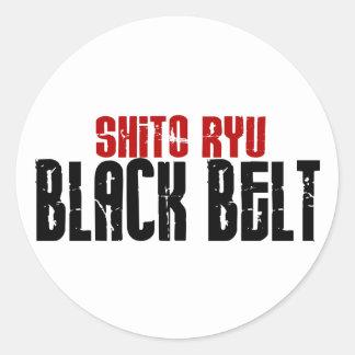 Shito Ryu Black Belt Karate Classic Round Sticker