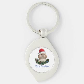 Shitzu christmas gifts keychain