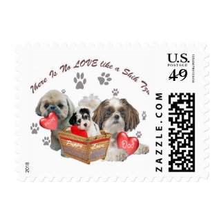 Shitzu Postage Stamps