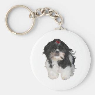 Shitzu Shih Tzu Puppy Dogs Basic Round Button Keychain