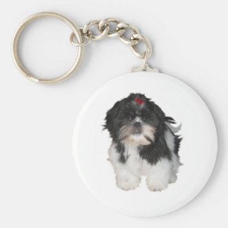 Shitzu Shih Tzu Puppy Dogs Keychain