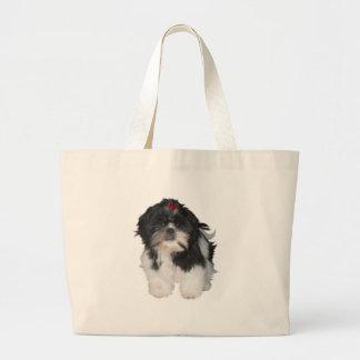 Shitzu Shih Tzu Puppy Dogs Large Tote Bag
