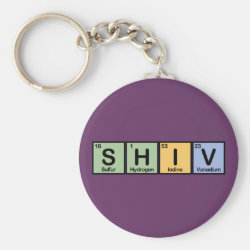 Basic Button Keychain with Shiv made of Elements design