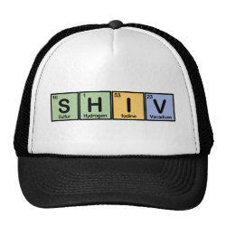 Trucker Hat with Shiv made of Elements design