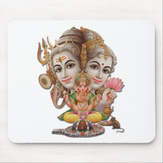 Shiva and family mouse pad