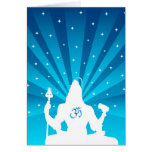 Shiva and Om - The Indian God Greeting Card