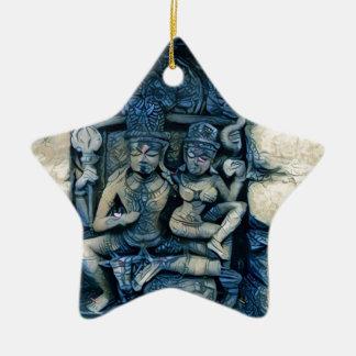 Shiva and Parvati Ceramic Ornament