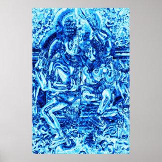 Shiva and Shakti Embrace Poster