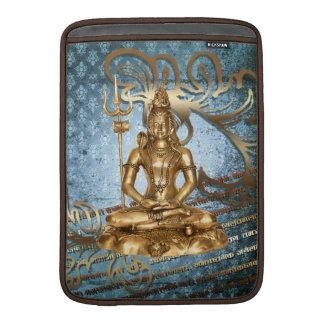 Shiva - blue, damask, gold Mac Air Sleeve