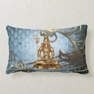 Shiva - blue, gold, damask American MoJo Pillows