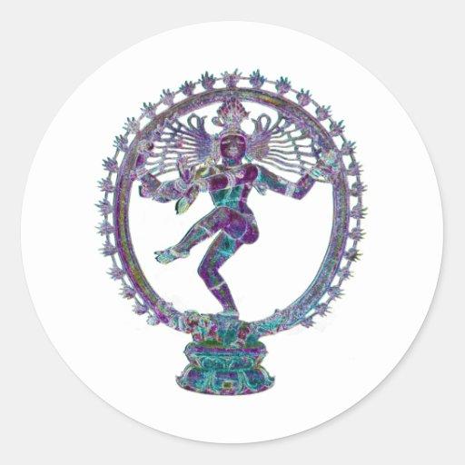 shiva classic round sticker