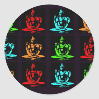 Shiva Collage Classic Round Sticker