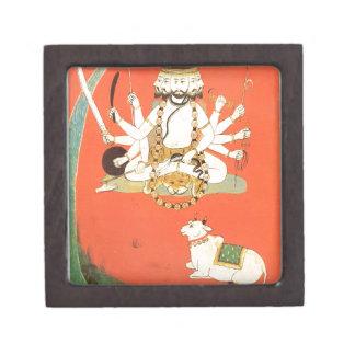 Shiva con su toro sagrado Nandi Cajas De Recuerdo De Calidad