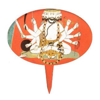 Shiva con su toro sagrado Nandi Figuras De Tarta