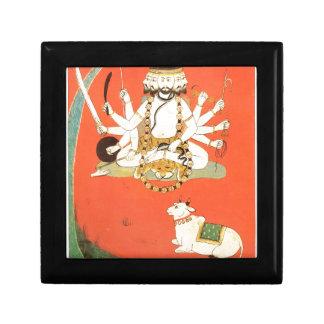 Shiva con su toro sagrado Nandi Joyero Cuadrado Pequeño