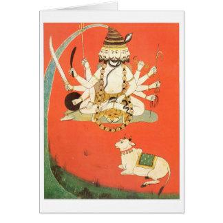 Shiva con su toro sagrado Nandi Tarjeta De Felicitación