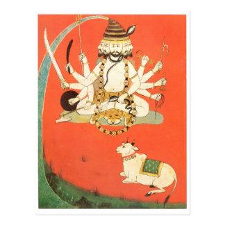 Shiva con su toro sagrado Nandi Tarjetas Postales