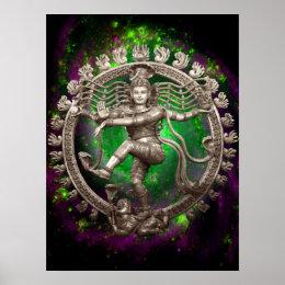 Shiva Dancing Circle Poster