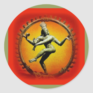 Shiva Dancing in Fire by Sharles Classic Round Sticker