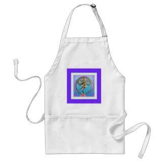 Shiva Dancing in Violet Mysticism by Sharles Adult Apron