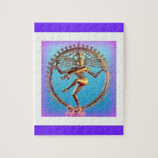 Shiva Dancing in Violet Mysticism by Sharles Jigsaw Puzzle