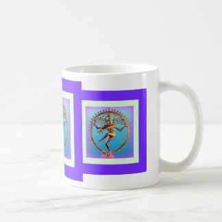 Shiva Dancing in Violet Mysticism by Sharles Classic White Coffee Mug