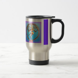 Shiva Dancing in Violet Mysticism by Sharles 15 Oz Stainless Steel Travel Mug