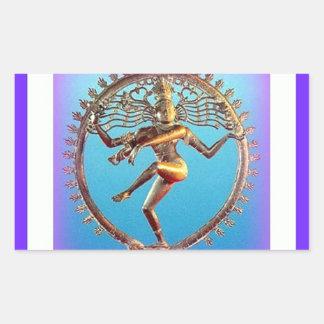 Shiva Dancing in Violet Mysticism by Sharles Rectangular Sticker
