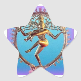 Shiva Dancing in Violet Mysticism by Sharles Star Sticker