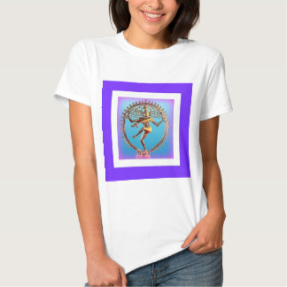 Shiva Dancing in Violet Mysticism by Sharles Tee Shirt