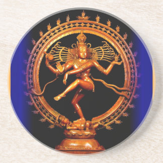 Shiva Dancing on Blue by Sharles Drink Coaster