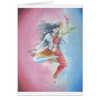 Shiva - dancingpose tarjeta de felicitación