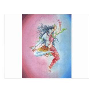 Shiva - dancingpose tarjeta postal