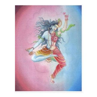Shiva - dancingpose tarjetas postales