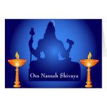 Shiva - dios indio tarjeta