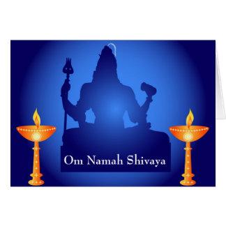 Shiva - dios indio tarjeta de felicitación