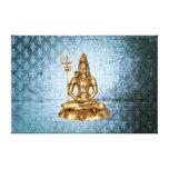 Shiva - el azul, grunde, damasco envolvió la lona impresiones en lienzo estiradas