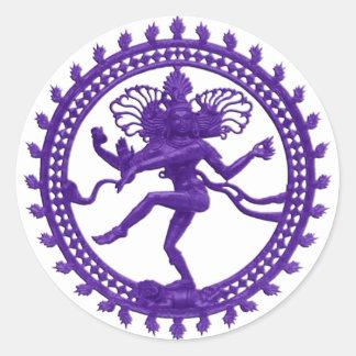 Shiva el bailarín cósmico pegatina redonda