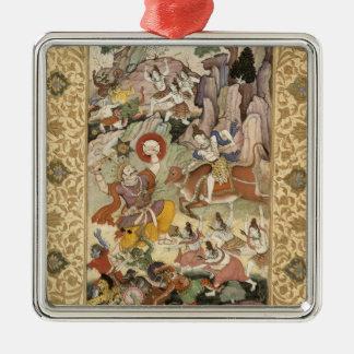 Shiva killing the Demon Andhaka, c.1585-90 Metal Ornament