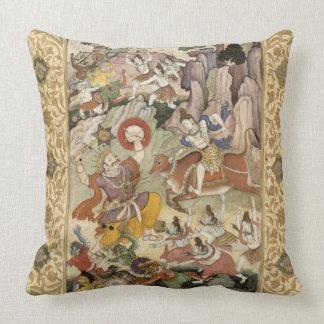 Shiva killing the Demon Andhaka, c.1585-90 Throw Pillow