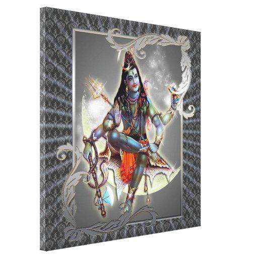 Shiva - magia del gris - lona envuelta lienzo envuelto para galerías