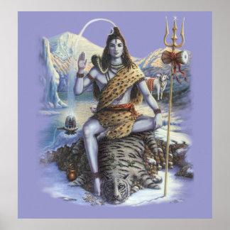 Shiva Mahadev art print