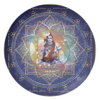 Shiva Mahamrityunjaya - Karma purifying Dinner Plate