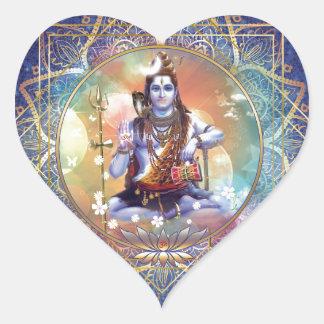 Shiva Mahamrityunjaya - Karma purifying Heart Sticker