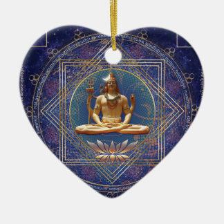 Shiva- Mahamrityunjaya-Tryambakam Mantra Ceramic Ornament