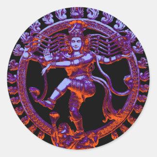 Shiva Nataraja dancing Classic Round Sticker