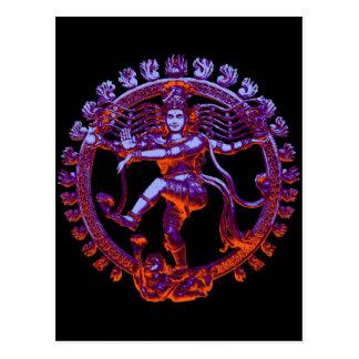 Shiva Nataraja dancing Post Card